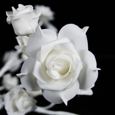 Drzewo kwiaty materiał LED biały ciepły