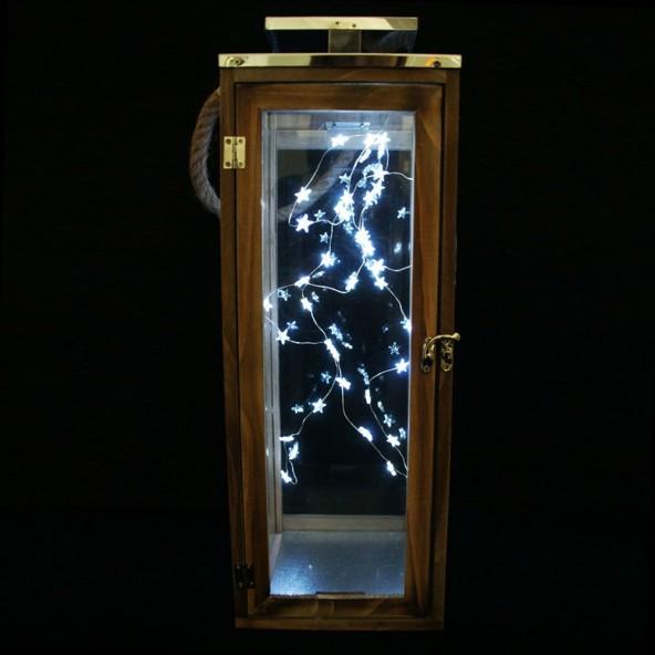 Lampion drewno mały